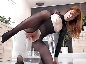 Wetandpissy  Drenched porn with respect to weird redhead