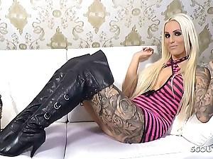 Leather Overknee Heels, Dirty Talk Session with German Teenage