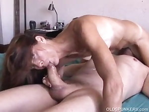 Couple 69s and she swallows all his cum