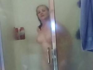 milf records herself in shower