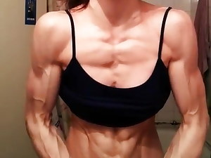 Ultra fit chick Flex skinny Muscle 1