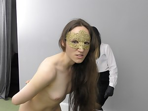 Handsome youthful lady caned by Miss sultrybelle.