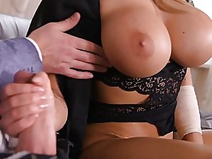 Massive breasted blondie, Chlo is about to have super-steamy fuck-a-thon with Tarzan, in her fresh guest room